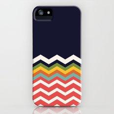 Retro Chevrons (salmon and navy) Slim Case iPhone (5, 5s)