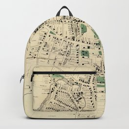 Vintage Map of Danbury Connecticut (1867) Backpack