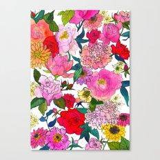 Peonies & Roses Canvas Print