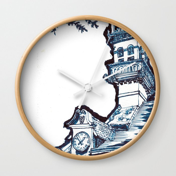 on a cool Sunday Wall Clock