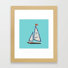 Sailboat I Framed Art Print