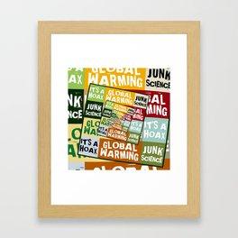 Global Warming Fraud Framed Art Print