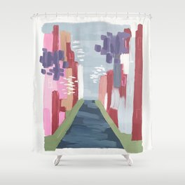 Spring Abstract 1 Shower Curtain
