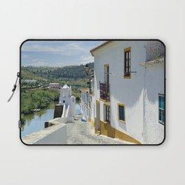 Narrow cobbled Alentejo street in Portugal Laptop Sleeve