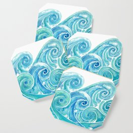 Watercolor Waves Coaster