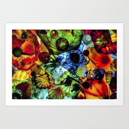 Happy Glass Art Print