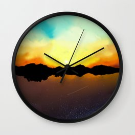 When the Day met the Night Wall Clock