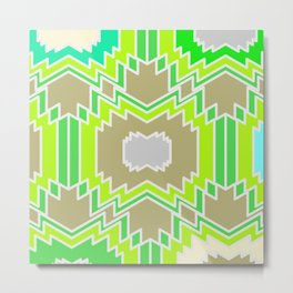 Ethnic shapes in bright tropical colors Metal Print