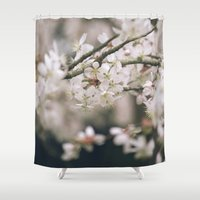 uk Shower Curtains featuring Spring blossom. Norfolk, UK. by liamgrantfoto