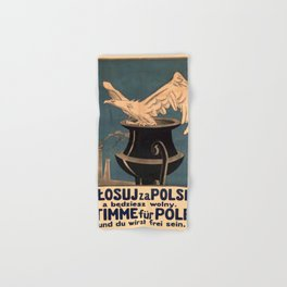 Vintage poster - Poland Hand & Bath Towel
