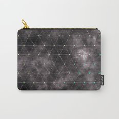 Galaxy - modern abstract dark grunge triangles pattern Carry-All Pouch