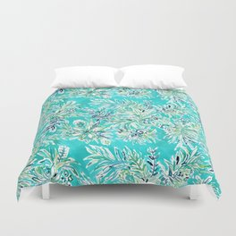 KAILUA CHILL Tropical Hawaiian Floral Duvet Cover