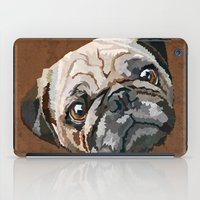 pug iPad Cases featuring pug by Ancello