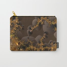 Organic Explosion of Chocolates - Fractal Golden Lava Carry-All Pouch