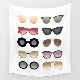 Ray Bans Sunglasses Illustration Wall Tapestry
