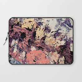 Brilliance: vibrant, colorful and textured in purple, gold, pink, blue, and white Laptop Sleeve
