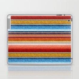 serape southwest stripe - red, blue, gold Laptop & iPad Skin