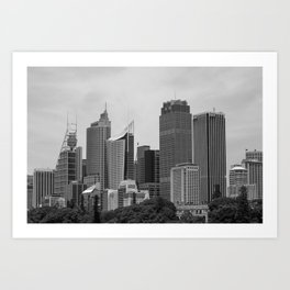 Retro Skyline Art Print