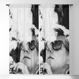JFK Cigar and Sunglasses Cool President Photo Photo paper poster Blackout Curtain