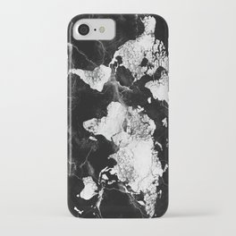 world map marble 4 iPhone Case