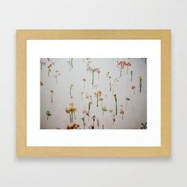 Floral Fish Tank Framed Art Print