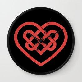 Celtic Heart (Dark) Wall Clock