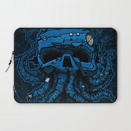 blue kraken skull Laptop Sleeve