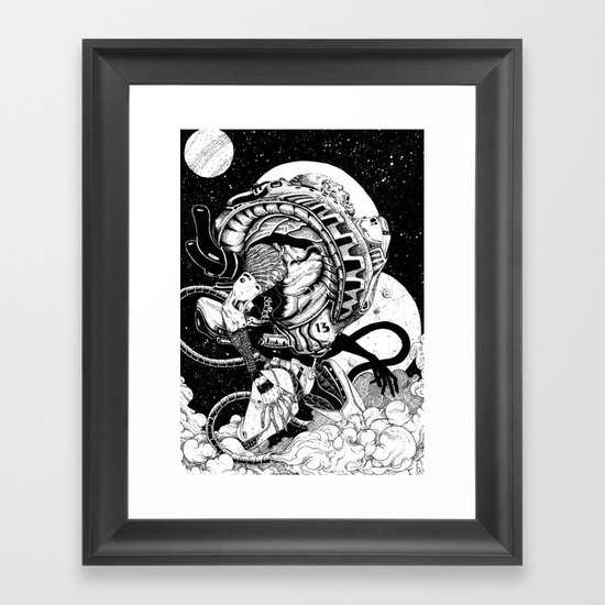 doomed astronaut Framed Art Print