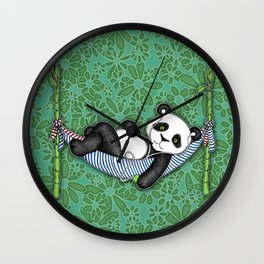 iPod Panda - The Lazy Days Wall Clock