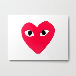 CDG Heart Metal Print