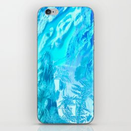 Hoar Frost in Turquoise iPhone Skin