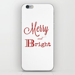 Merry and bright Christmas iPhone Skin