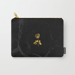 Forever Petal (Black Gold) Carry-All Pouch