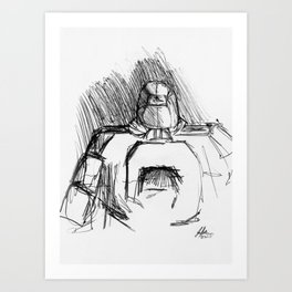 Warbot Sketch #045 Art Print