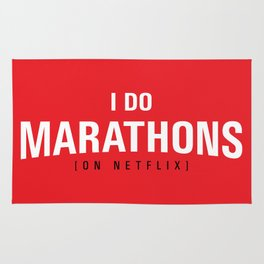 I DO MARATHONS (Binge Watch) Red Rug