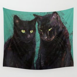 Two Black Cats Wall Tapestry