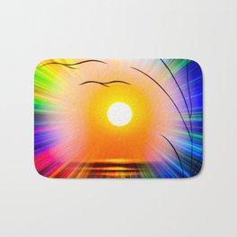 Sunset abstract Bath Mat