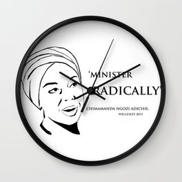 Minister Radically Wall Clock