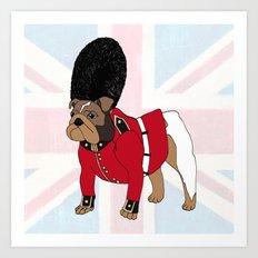 British Bulldog Guard Art Print