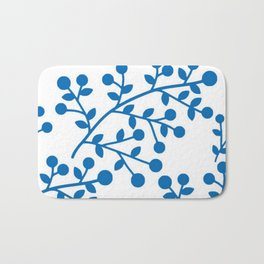 Blueberry Fields Forever - White Edition Bath Mat