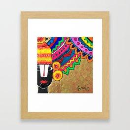 Balaji- abstract art by saneesha Framed Art Print