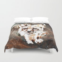 Space Fox no4 Duvet Cover