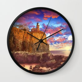 lighthouse landscape Wall Clock
