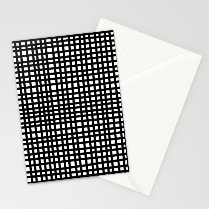 Black and White Gingham Stationery Cards