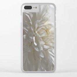 Chrysanthemum Textures Clear iPhone Case
