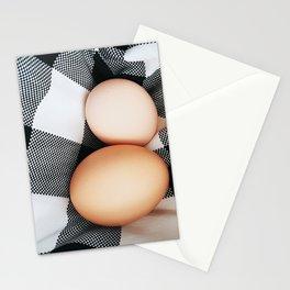 Plaid Eggs Stationery Cards