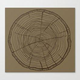 Tree rings brown Canvas Print