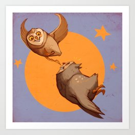 Owl lympics Art Print