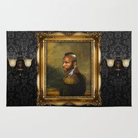 replaceface Area & Throw Rugs featuring Mr. T - replaceface by replaceface