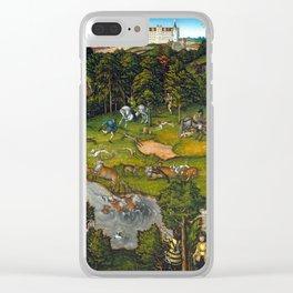 Lucas Cranach Hunting near Hartenfels Castle Clear iPhone Case